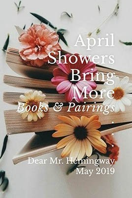 April Showers Bring May Book Pairings Graphic