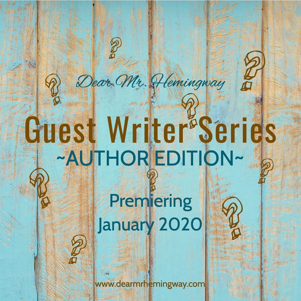 Guest Writer Series, Author Edition, Premiere Graphic