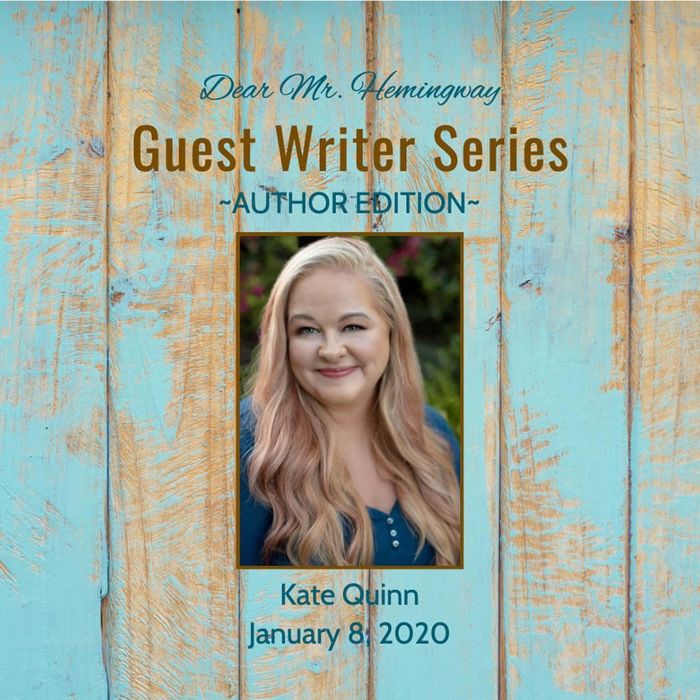Guest Writer Graphic for Kate Quinn