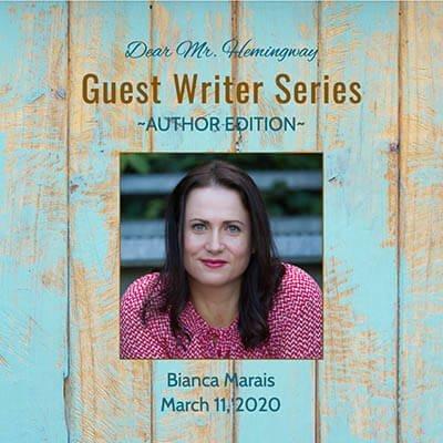 Guest Writer, Author Bianca Marais