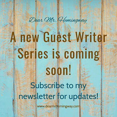 A new guest writer is coming soon graphic