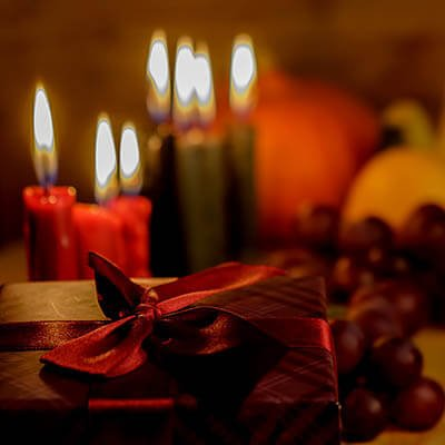 Kwanza candles and decorations