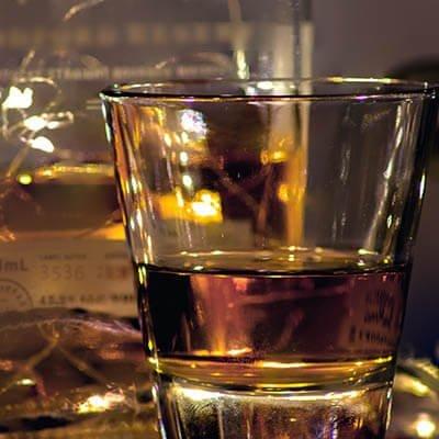 brandy in a tumbler